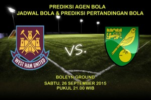 Prediksi-Pertadingan-West-Ham-United-Vs-Norwich-City-Sabtu-26-September-2015