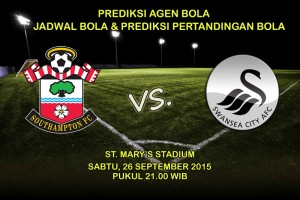 Prediksi-Pertandingan-Southampton-Vs-Swansea-City-26-September-2015