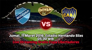 Live Streaming Club Bolivar vs Boca Juniors 11 Maret 2016 FREE! (Copa Libertadores)