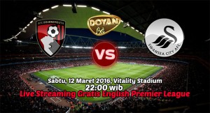 Bournemouth AFC vs Swansea City 12 Maret 2016 FREE!!(English Premier League)