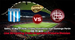 Live Streaming Racing Club vs CA Lanus 12 Maret 2016 FREE!!(Argentina Primera Division)