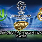 Prediksi Bola Wolfsburg vs Real Madrid 07 April 2016