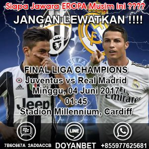FINAL LIGA CHAMPIONS JUVENTUS vs REAL MADRID